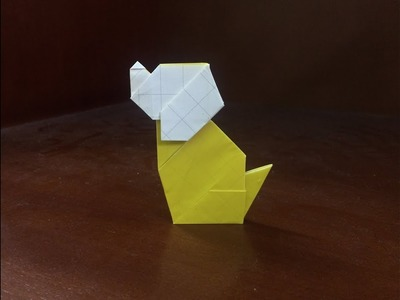ORIGAMI - How to make a paper dog easy