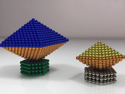 Playing Magnetic Balls   How To Make Pyramids with Skills Play Magnetic Ball