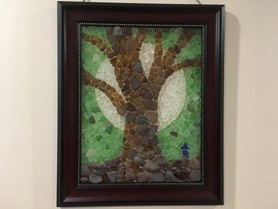 Sea Glass Mosaics - How to Create a Tree