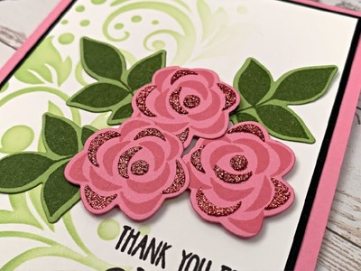 Stamp-n-Stencil- How to line up 2-step and Layering Flowers