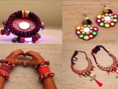 4 DIY Jewellery I How to make jewellery at home I Fashion Accessory I Indian Jewellery