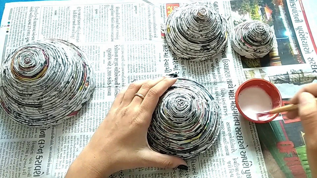 Best Out Of Waste Ideas How To Make Waste Newspaper Showpiece At