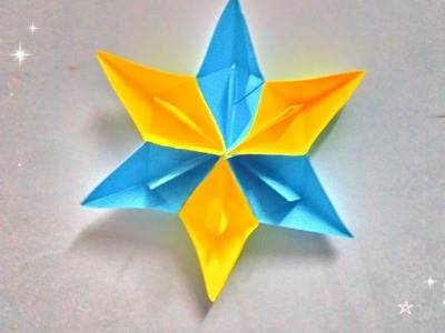 Christmas & Diwali Special | How to make paper Star Wall Hanging with paper boat | Decoration idea