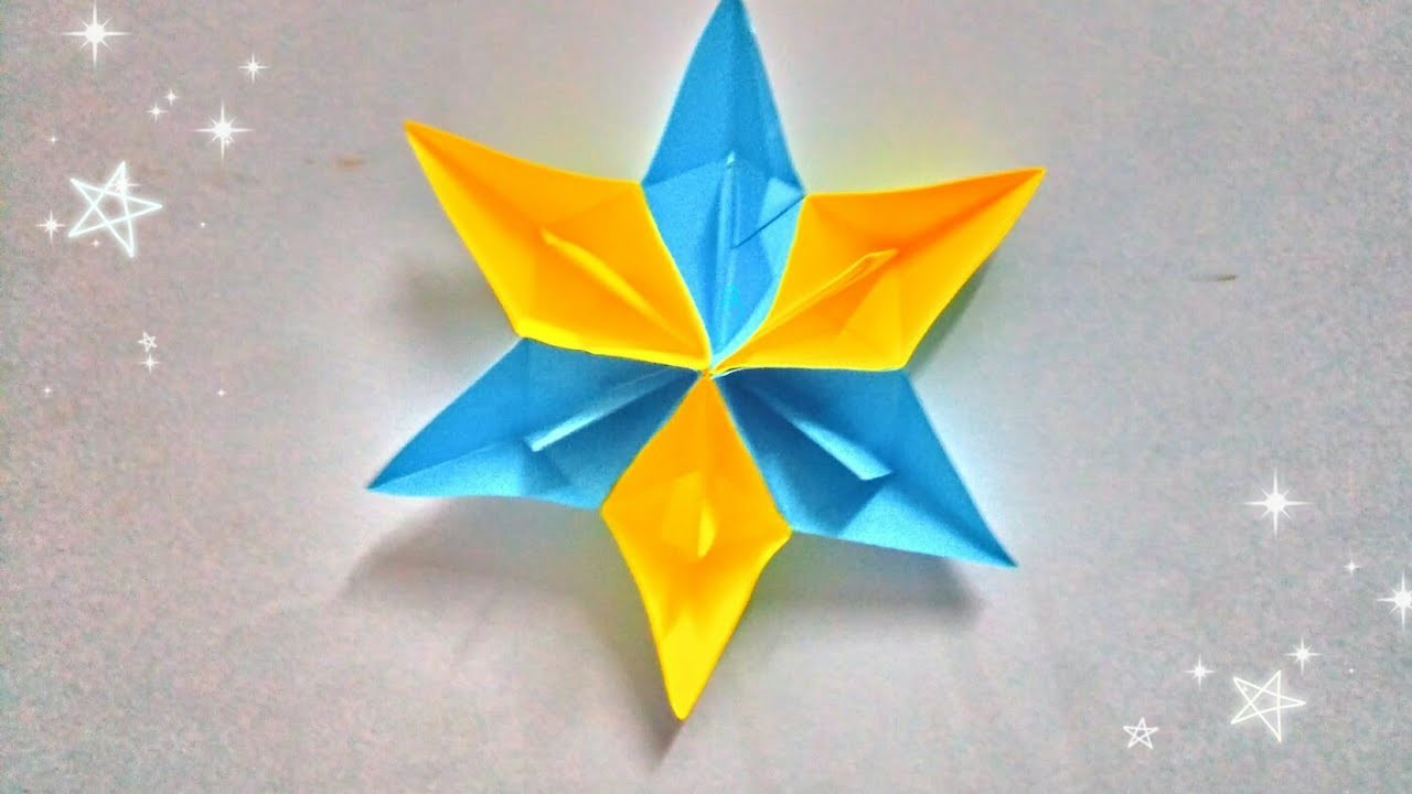 Christmas & Diwali Special   How to make paper Star Wall Hanging with paper boat   Decoration idea