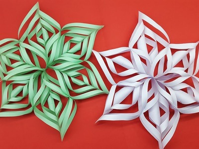 Christmas Snowflake Tutorial | How To Make Paper Snowflake Easy Making Video
