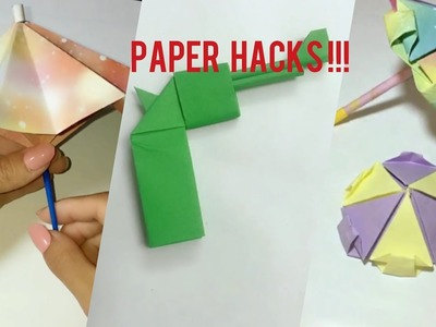 Coloured paper umbrella origami art || How to make paper gun for kids at home