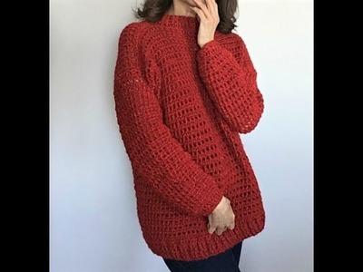 Crochet Mock Turtleneck Sweater Part 1