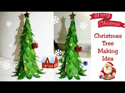 DIY Christmas tree.How to make Christmas tree from Paper.Very Easy and Beautiful Christmas Tree