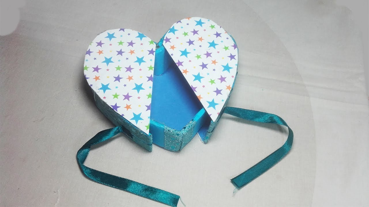 DIY Heart Gift Box How To Make A Heart Shape Box