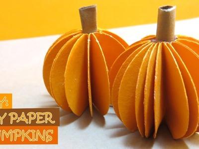 DIY: How to Make Easy Paper Pumpkins