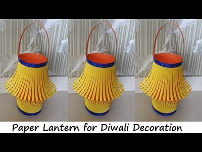 DIY - How to Make Paper Lantern for Diwali and Christmas Decoration || Diwali Decoration Ideas