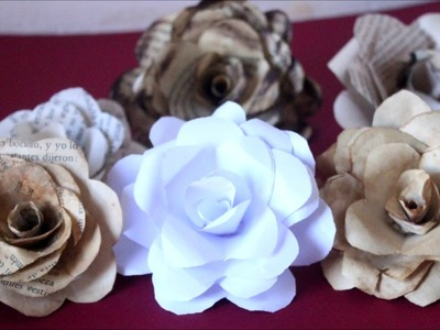 DIY - How to Make Vintage Paper Roses - Recycling