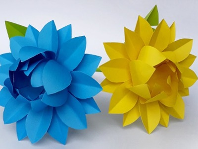DIY Paper Flower | How to Make Beautiful Flower with Paper | Easy Paper Flower Making