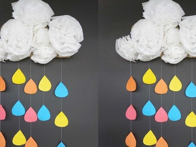 Diy Paper Flower Wall Hanging   Wall Decoration Ideas   How To Make Easy Paper Flower Wall Hanging