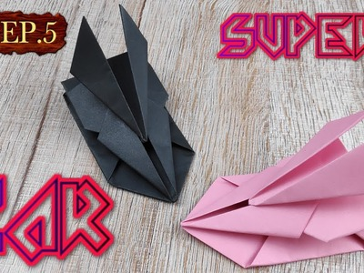 DIY Toy Paper Car | How To Make A Racing Paper Super Car Tutorials | Easy Origami Craft Kids EP.5