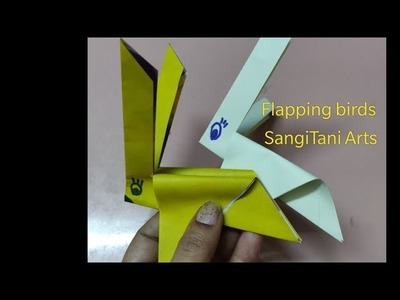 How To Make An Origami Flapping Bird - Folding Instructions ... | 300x400