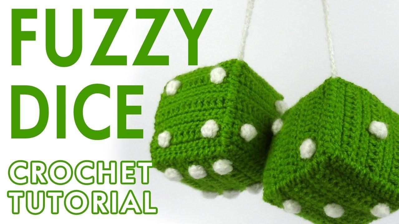 Fuzzy Dice Crochet Tutorial