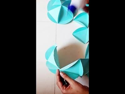Handmade Paper Lantern for Diwali.How to  Make a Paper lantern Ball.How to Make  Diwali Lantern.