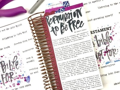 How to Add Inserts to the Spiral Binding of the Illustrating Bible Using Permission Pages Printables