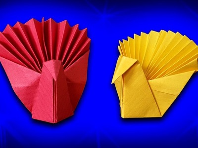 How to Fold an Origami Peacock - CaTa Crafts