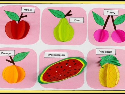 How To Make 3D Fruits With Paper | Paper Crafts | DIY Fruits