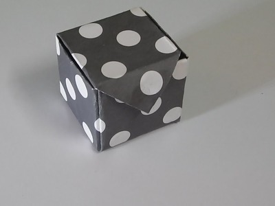 How to make a gift box with lid (origami box)