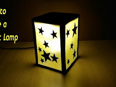 How to make a Night lamp. Lamp with stars