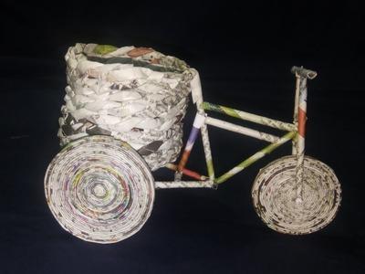 How to make a paper rickshaw. life hacks. rabbit foot paint