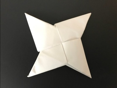 How to make a paper shuriken (Ninja Blade)