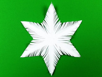 How to make a snowflake with paper. Paper snowflake tutorial.