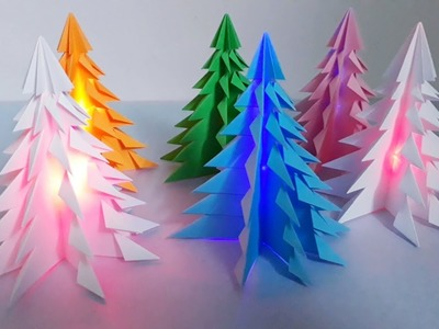 How to make an 3D Paper Christmas Tree Without Glue