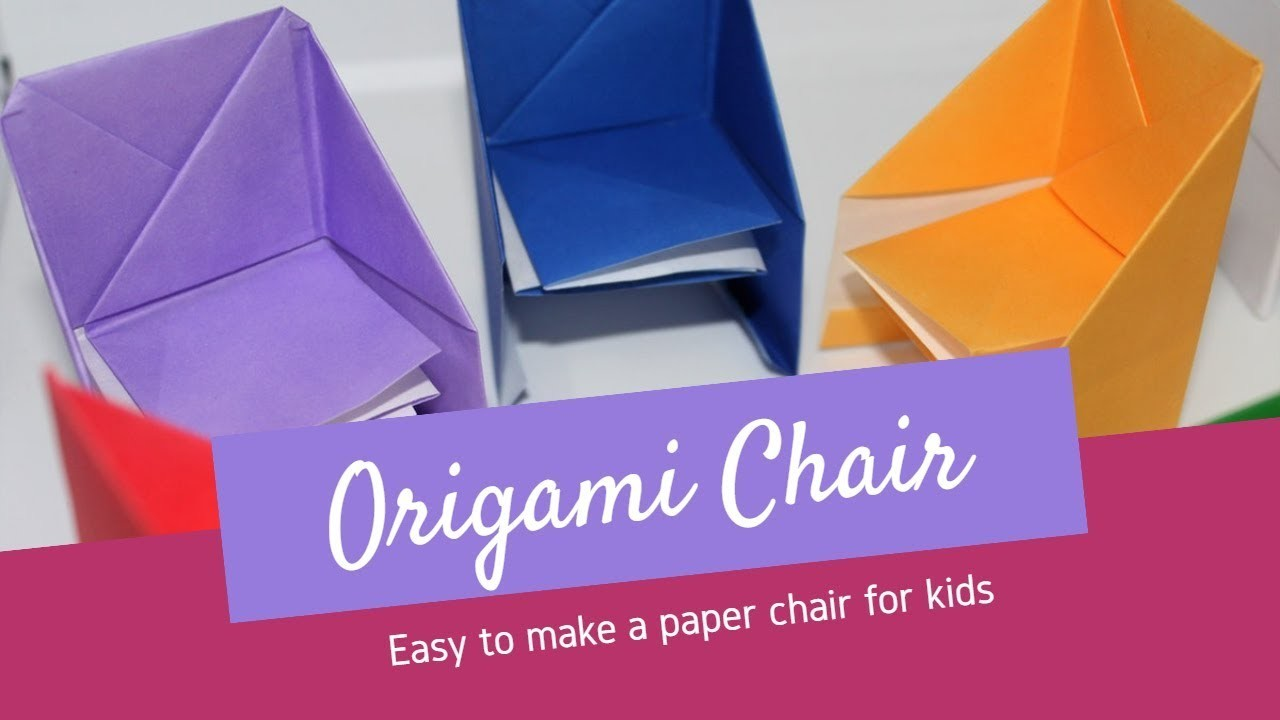 How to make an origami chair - Easy to make a paper chair for kids