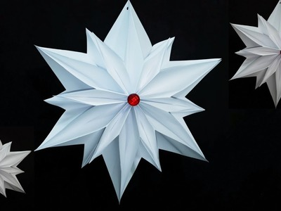 How to make an Paper Star for Christmas Decoration | Hanging 3D Snowflake