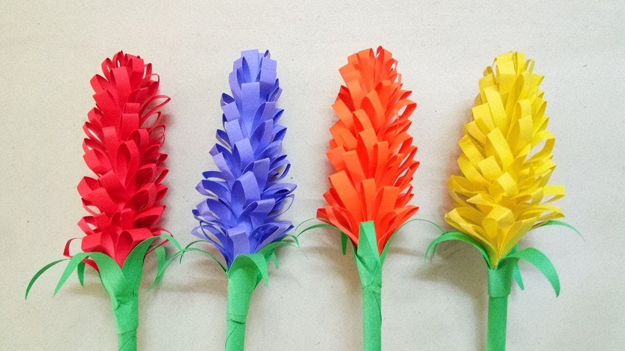 How To Make Beautiful Lavender Paper Flowers Very Easy Diy Crafts