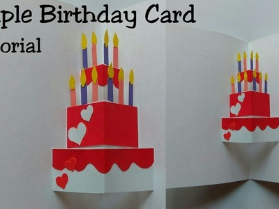How To Make Birthday Pop Up Card || Simple Birthday Card