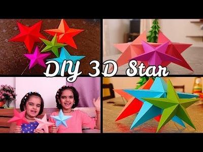 How to make Christmas Star | Easy 3d star | Paper Star | SaanveeKhushee