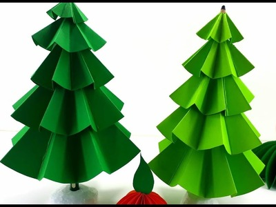 How To Make  Christmas Tree Simple Paper