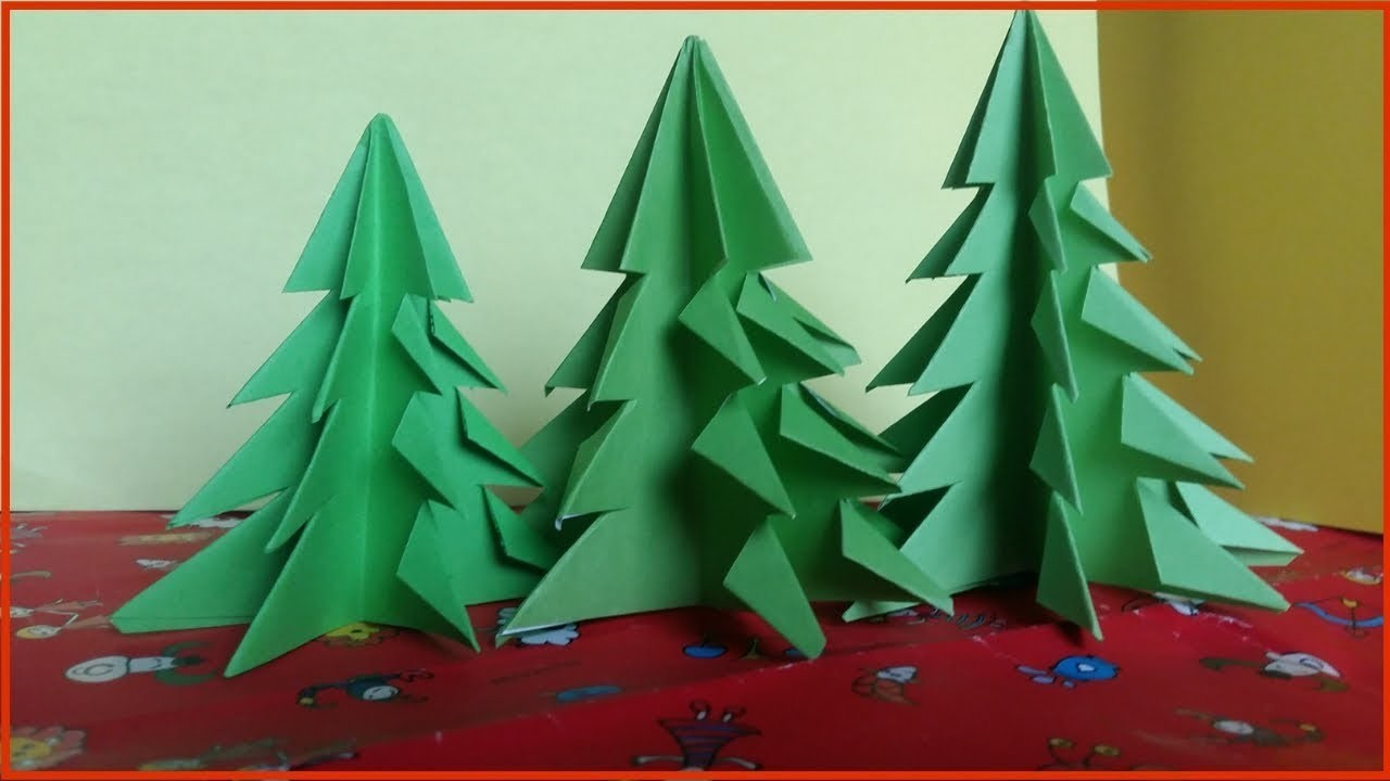 How To Make Christmas Tree Out Of Paper Crafts For Christmas