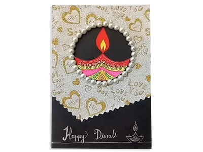 How to make Diwali card . Handmade Diwali Card