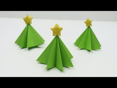 How to Make DIY Origami Paper Christmas Tree - 3D Christmas Origami Ideas for Home and Room Decor