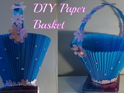 How to make flower basket with paper