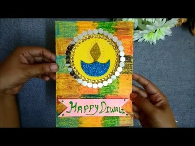 How to make Greeting card for Diwali 2018 | Diwali Greeting Card ideas | Useful Creations