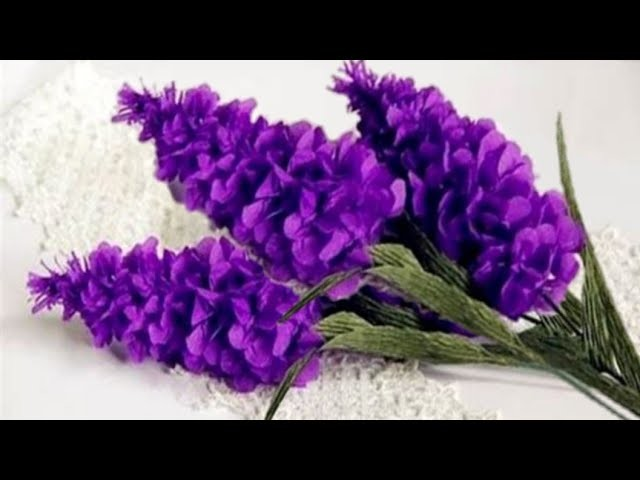 How To Make Lavender Crepe Paper Flowers Flower Making Of Crepe