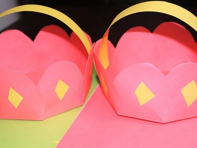 How to make Origami Flower Pot   Origami Box