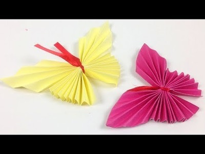 How to Make Paper Butterflies Quickly - EzzyCrafts DIY | Beginners Paper Crafts: Origami Butterfly