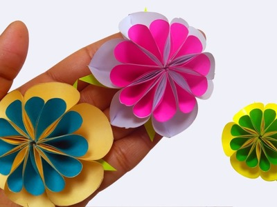 Making How To Make Beautiful Flower With Paper Making Paper Flowers