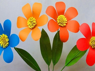 Making How To Make Paper Flowers Easy Flower Crafts With Paper