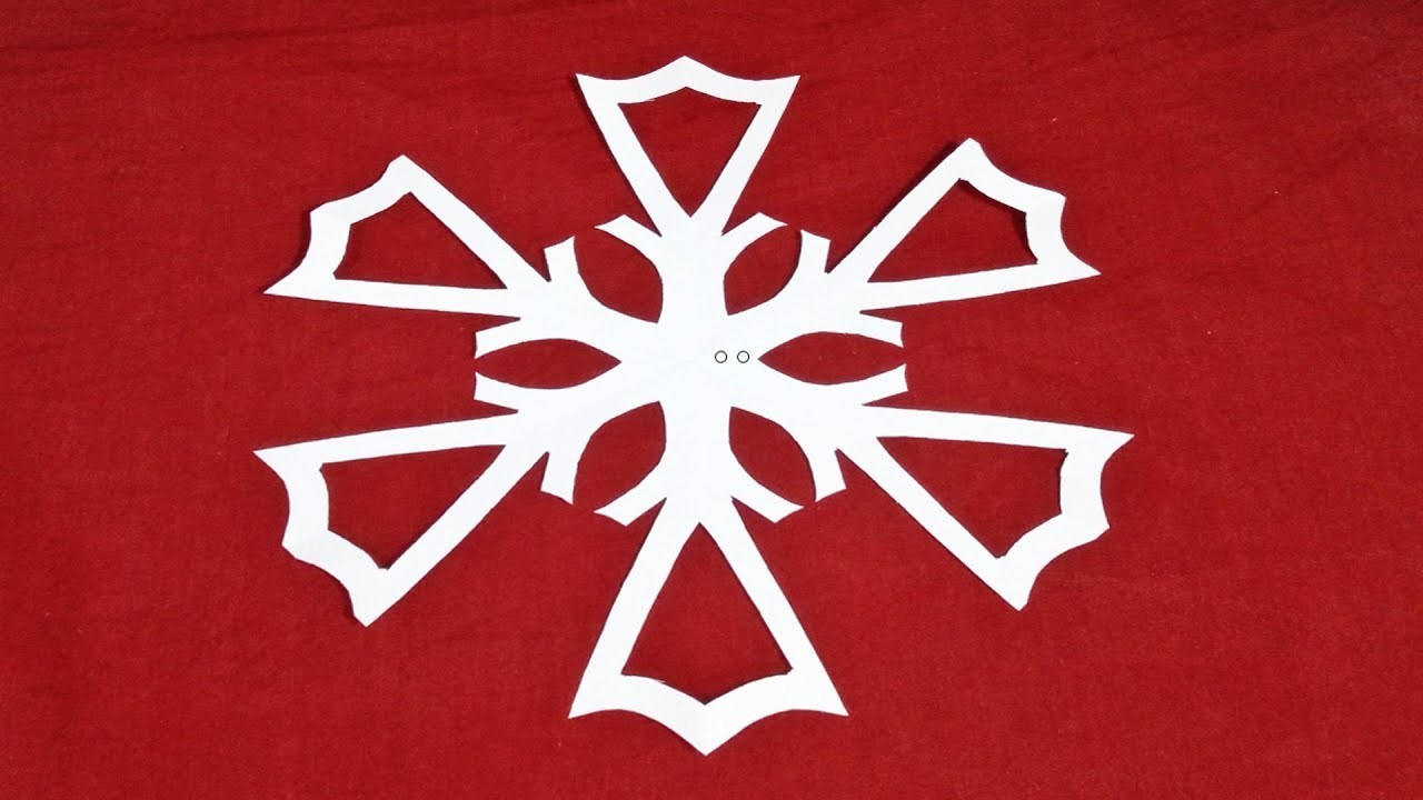 How to Make Paper Snowflake Design Tutorial, Easy Origami Snowflakes