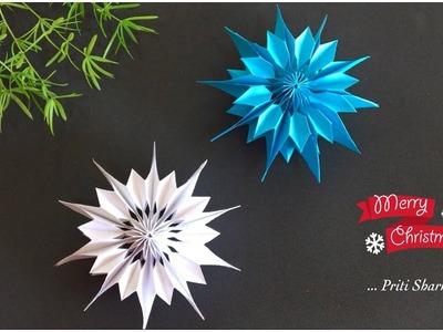 How To Make Paper Snowflakes In 5 Minutes. Paper Snowflake Tutorial | Priti Sharma