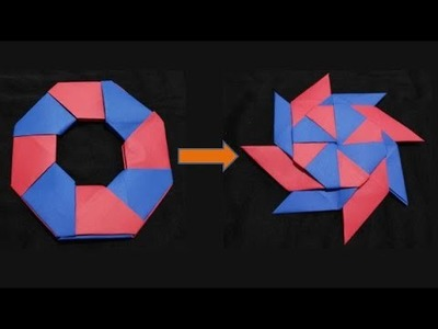 How to make Paper transforming star.DIY Simple Paper transforming star-Origami|Art & Cook Channel